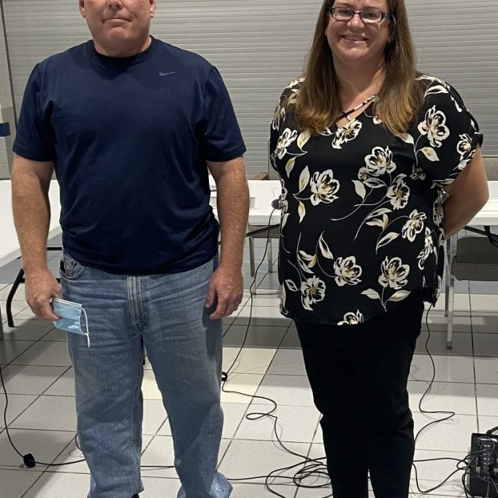 TAYLORVILLE — At left are the two new members of the Taylorville School Board appointed Monday night are Rick Bryan and Jennifer Dammerman.